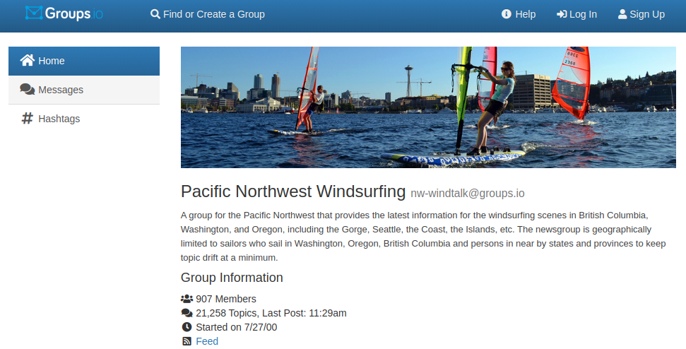 Snapshot of NW Windtalk on Groups.io